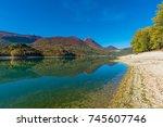 national park of abruzzo  lazio ...   Shutterstock . vector #745607746