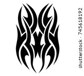 tattoo tribal vector design.... | Shutterstock .eps vector #745618192