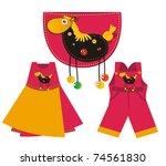 Kids Sew Applique - horse - stock photo