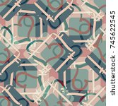 new colorful seamless pattern... | Shutterstock . vector #745622545