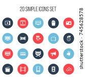 set of 20 editable cinema icons....