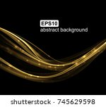 abstract light wave futuristic... | Shutterstock .eps vector #745629598