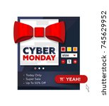 vector illustration for cyber... | Shutterstock .eps vector #745629952