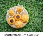 thai dessert  thai sweets  made ... | Shutterstock . vector #745631212