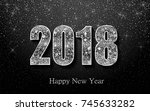 happy new year 2018. background ... | Shutterstock .eps vector #745633282