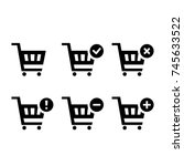 shopping carts icon collection  ... | Shutterstock .eps vector #745633522