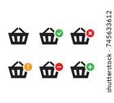 shopping baskets icon set...