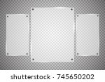 glass plates are installed.... | Shutterstock .eps vector #745650202