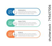 infographic template three... | Shutterstock .eps vector #745657006