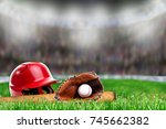 low angle view of baseball... | Shutterstock . vector #745662382