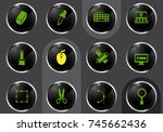 design professional web icons... | Shutterstock .eps vector #745662436