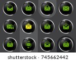 mail vector icons for user... | Shutterstock .eps vector #745662442