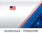 flag of usa background for... | Shutterstock .eps vector #745665358