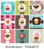 set of cake cards template | Shutterstock .eps vector #74566672
