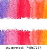 colorful watercolor brush... | Shutterstock . vector #74567197