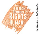 conceptual human rights... | Shutterstock . vector #745684636