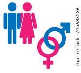 gender symbol set. male female... | Shutterstock .eps vector #745688536