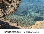 paradise beach of asinara... | Shutterstock . vector #745690618