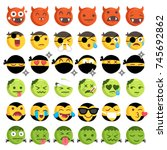 big set of 36 high quality... | Shutterstock .eps vector #745692862