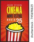 vector movie festival poster... | Shutterstock .eps vector #745698625