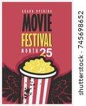 vector movie festival poster... | Shutterstock .eps vector #745698652