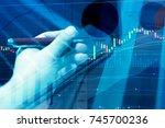 data analyzing in forex ... | Shutterstock . vector #745700236