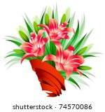 floral design. greeting card | Shutterstock .eps vector #74570086
