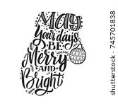 merry christmas typography ... | Shutterstock .eps vector #745701838