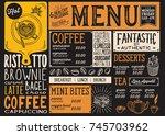 coffee drink menu for... | Shutterstock .eps vector #745703962