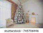 christmas decor home  | Shutterstock . vector #745706446