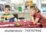 two boys brothers are playing...   Shutterstock . vector #745707946