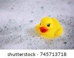 Duck Toy In Bubble Water