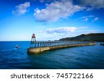 Whitby Pier At The Harbor...