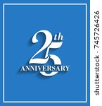 25th anniversary logotype with... | Shutterstock .eps vector #745726426