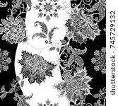 seamless pattern. brilliant... | Shutterstock . vector #745729132