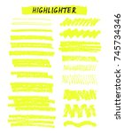 vector yellow highlighter brush ... | Shutterstock .eps vector #745734346