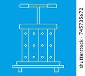 press for grapes icon blue... | Shutterstock . vector #745735672