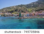 view of the port of the giglio...   Shutterstock . vector #745735846