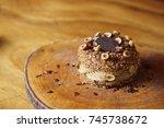 paris brest  a classic french...   Shutterstock . vector #745738672