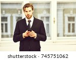 business and success ... | Shutterstock . vector #745751062