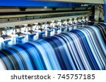 large inkjet printer working... | Shutterstock . vector #745757185
