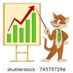 growth chart. funny cartoon cat ...   Shutterstock .eps vector #745757296