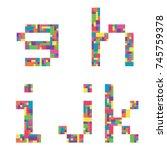g  h  i  j  k alphabet... | Shutterstock .eps vector #745759378