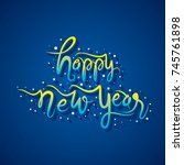creative happy new year holiday ...   Shutterstock .eps vector #745761898