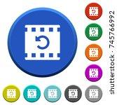 undo movie changes round color... | Shutterstock .eps vector #745766992