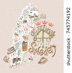 hand drawn illustration of... | Shutterstock .eps vector #745774192