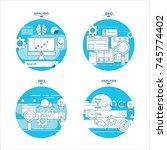 analytics information and... | Shutterstock .eps vector #745774402
