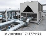 air cooled water chiller with... | Shutterstock . vector #745774498