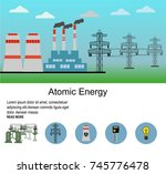 nuclear power plant vector... | Shutterstock .eps vector #745776478
