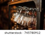 set of washed and cleaned... | Shutterstock . vector #745780912